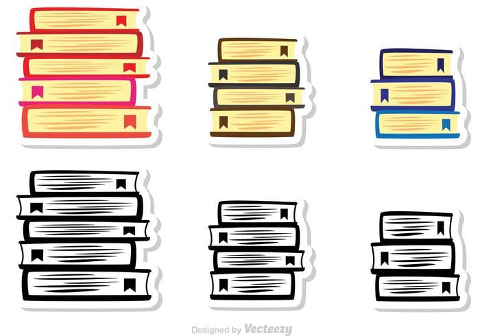 Pile de livres vecteur