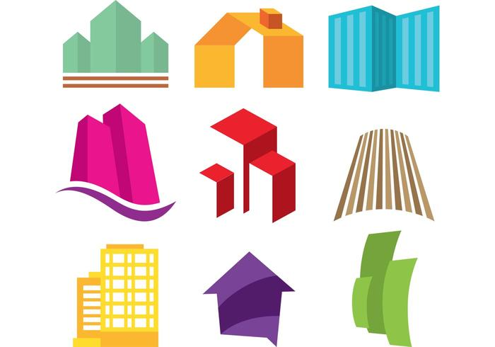 Logos immobiliers vecteur