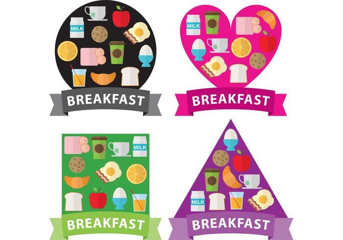 Formes du petit-déjeuner vecteur