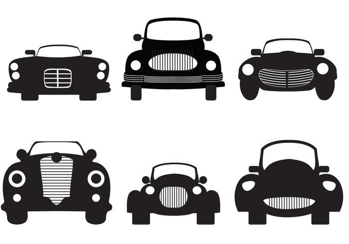 Silhouette de voiture classique vecteur