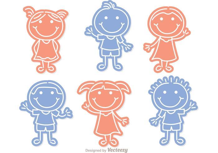 Ensemble vectoriel Little Niños Outline