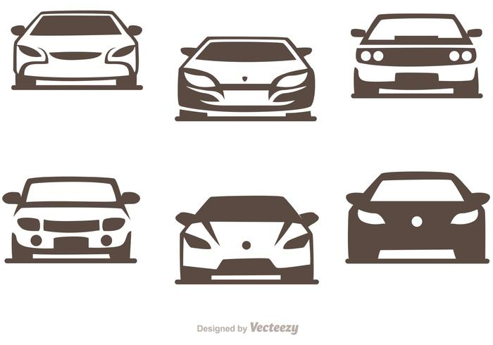 Voitures Silhouette Vector Pack of Sports Cars