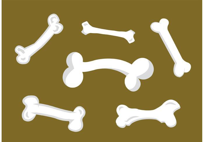 Fond isolé d'os de chien vecteur