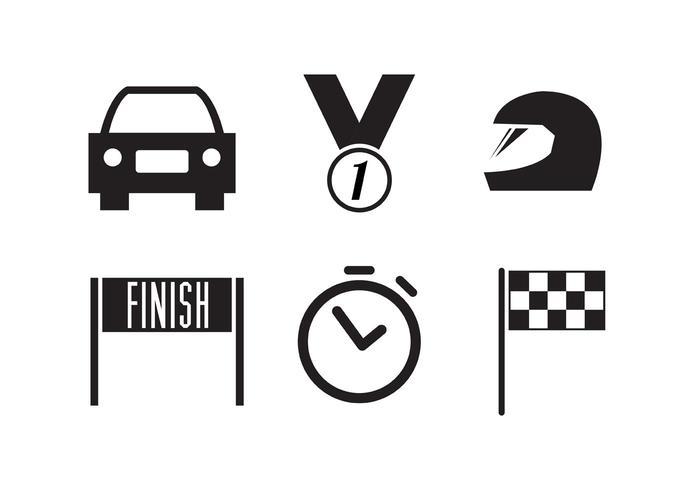 Collection d'icônes de course vecteur