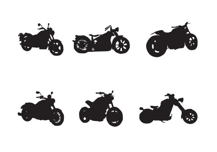 Silhouettes gratuites de vecteur de moto
