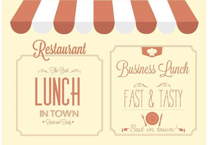 Conception de signe de restaurant vectoriel gratuit