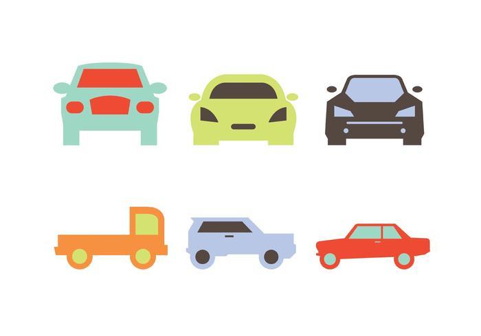 Vecteurs de silhouettes de voiture vecteur