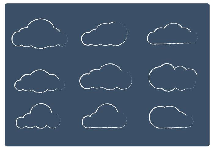 Vecteurs de nuage fragmentés vecteur