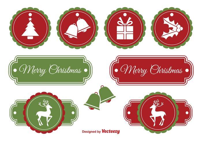 Étiquettes de Noël vecteur