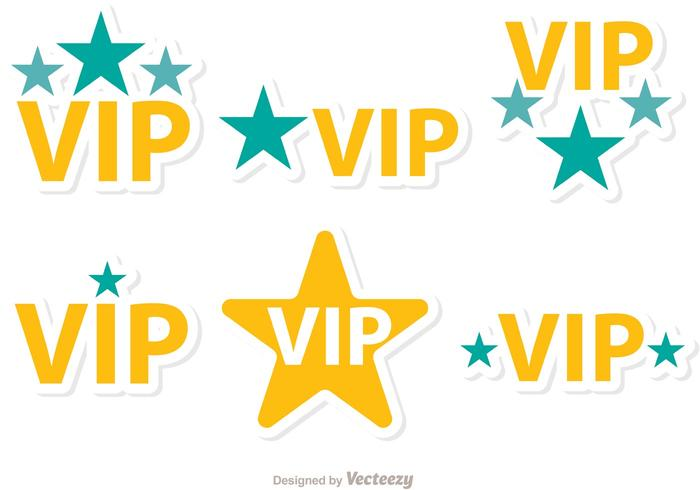 Étoiles Vip Icons Vector Pack
