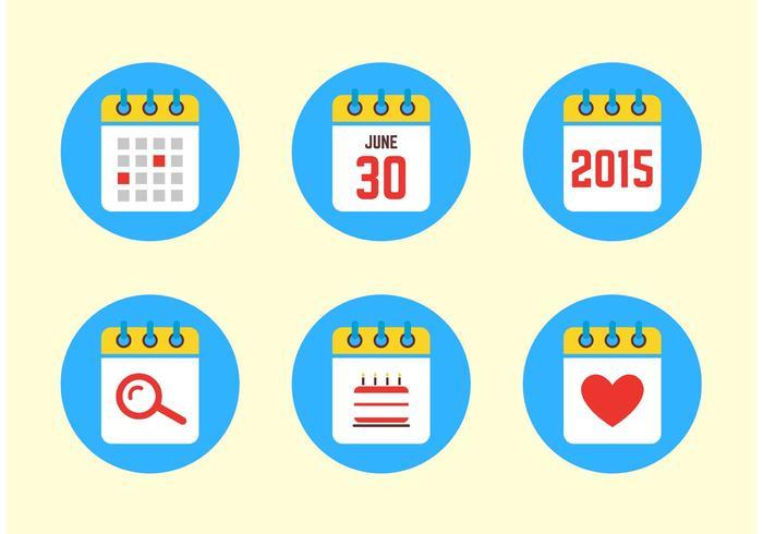 Icônes de calendrier 2015 vecteur