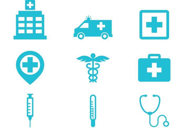 Icônes de l'hôpital vecteur