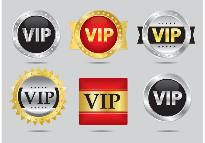 Vecteurs d'icônes VIP vecteur