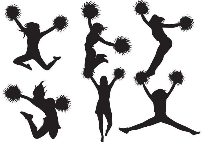 Paquet de vecteur de silhouette Cheerleader