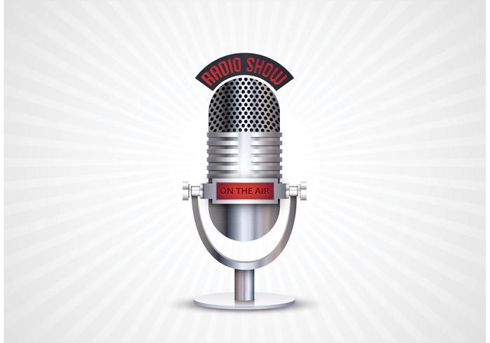 Vecteur de microphone rétro gratuit