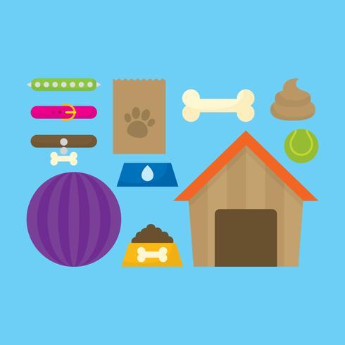 Accessoires pour animaux de compagnie vecteur