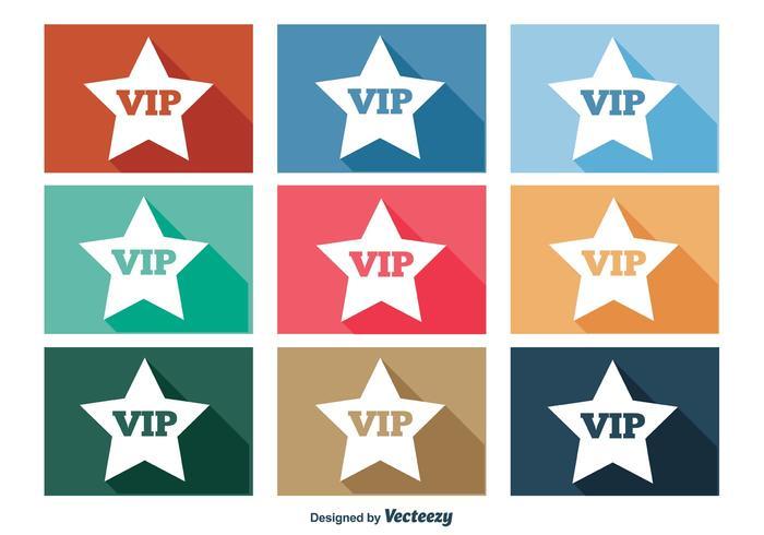Ensemble d'icônes VIP vecteur