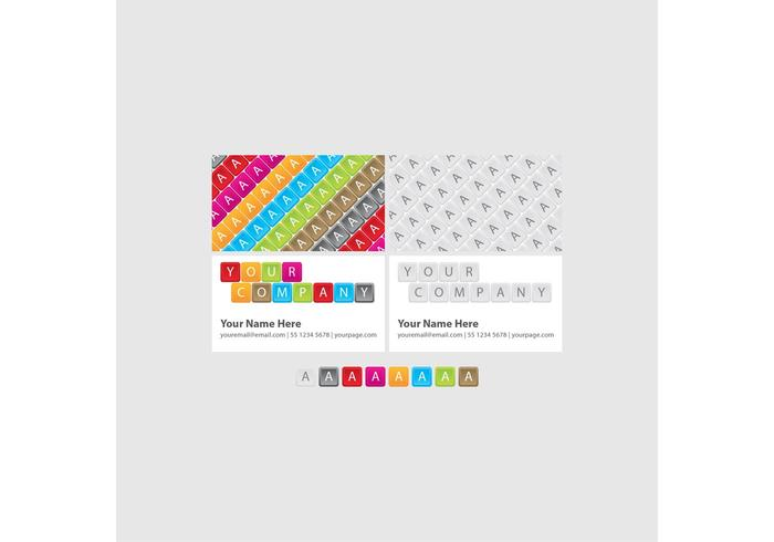 Bright Keyboard Business Cards vecteur