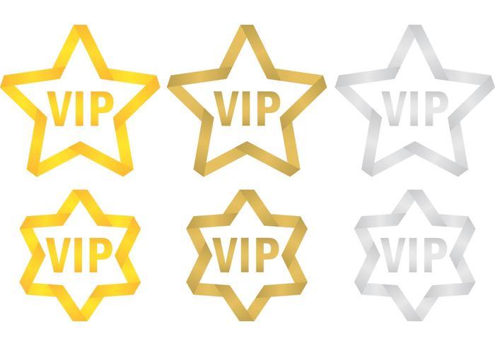 Vip stars vecteur