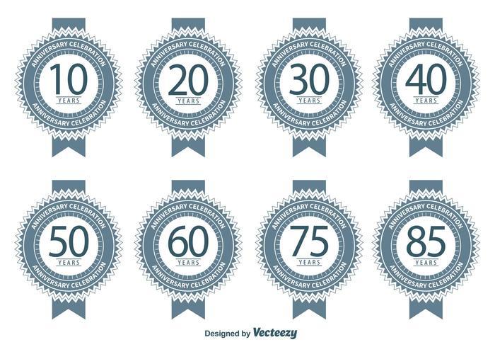 Badges d'anniversaire vecteur