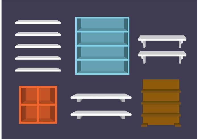 Vecteurs d'étagères 3D vecteur