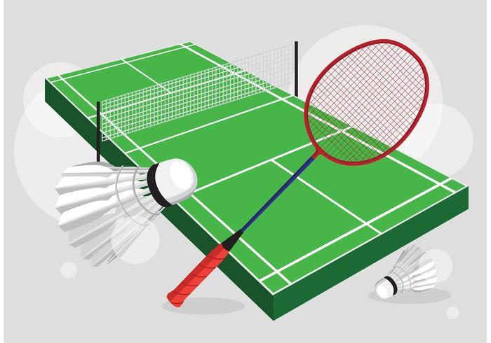Ensemble de vecteur Badminton Court
