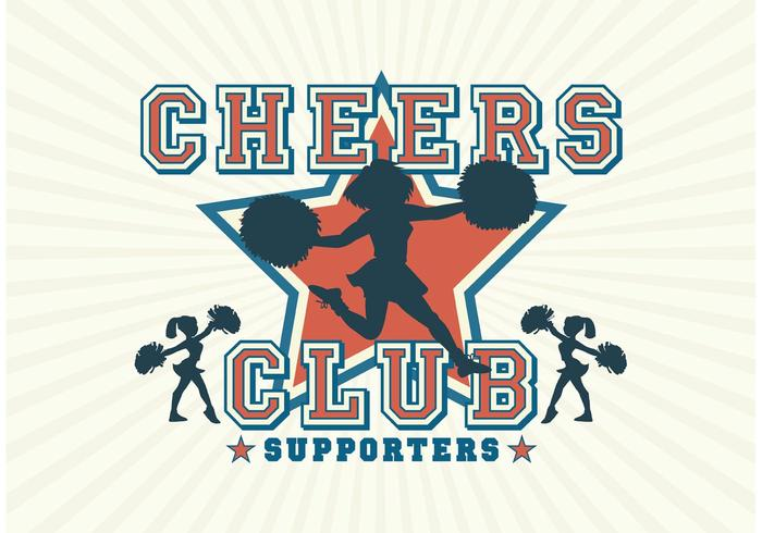 Des silhouettes gratuites de cheerleader de vecteur