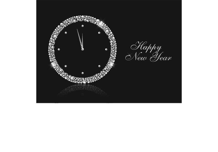 Horloge de Nouvel An Vector Free