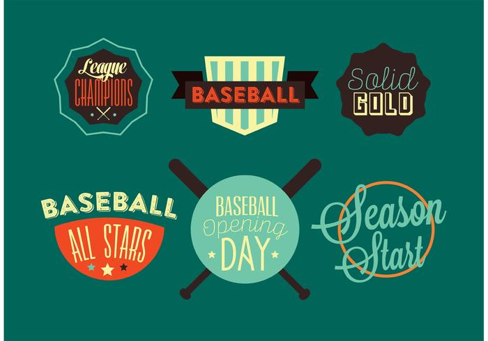 Journée d'ouverture du baseball vecteur