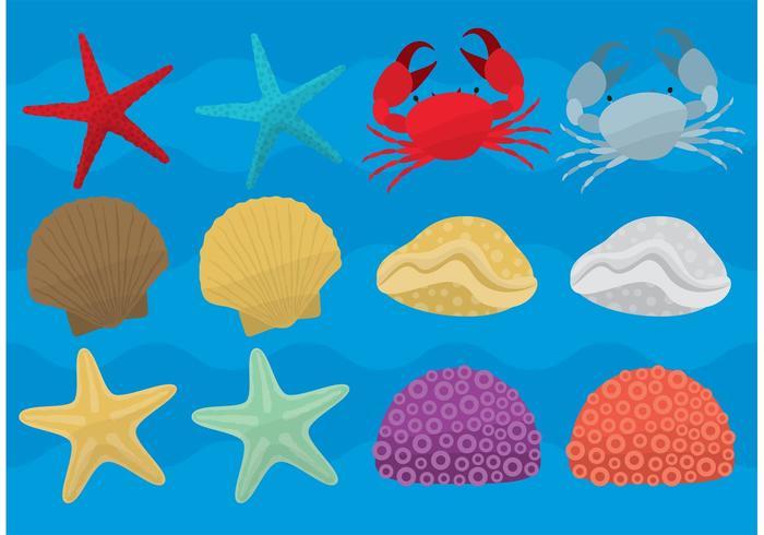 Vecteurs de la vie marine vecteur
