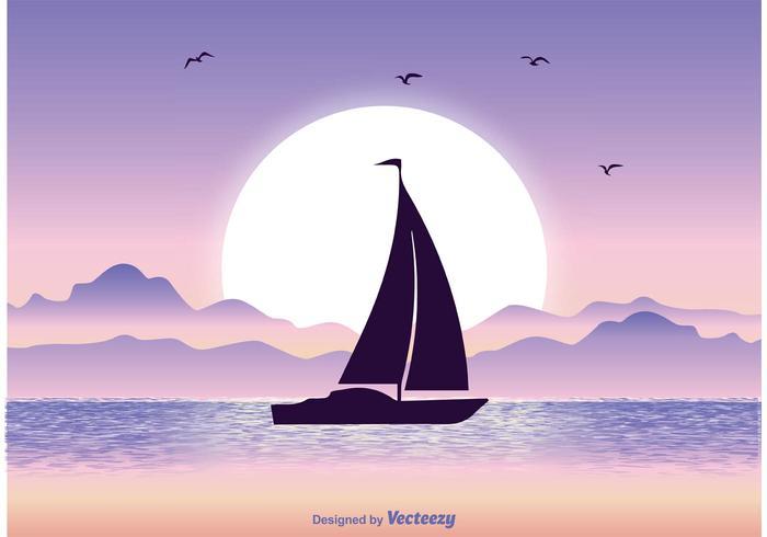 Illustration Sunset vecteur