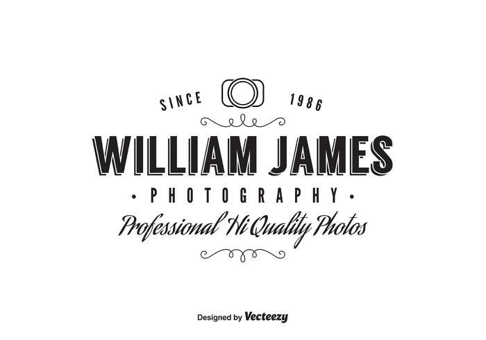 Modèle de logo du photographe vecteur