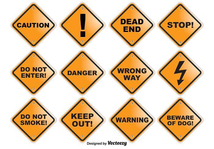Attention des signes vectoriels vecteur