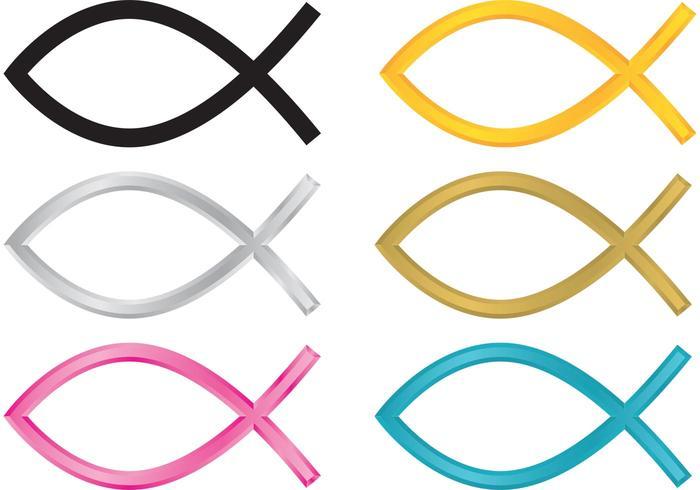 Symbole de poisson chrétien vecteur