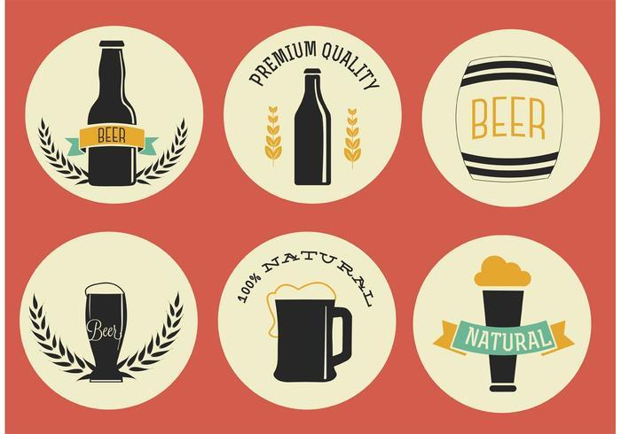 Étiquettes de bière Free Vector