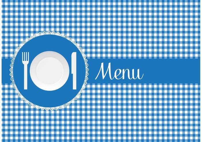 Carte de menu gratuite avec vecteur de plaque de papier