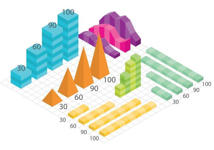 Graphiques vectoriels isométriques vecteur