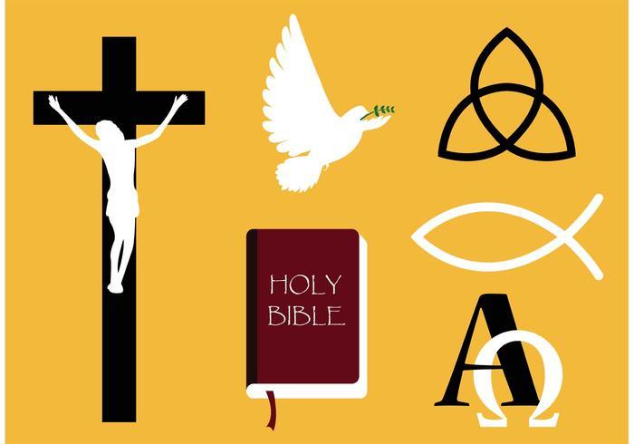 Vecteurs de symboles de poissons chrétiens vecteur