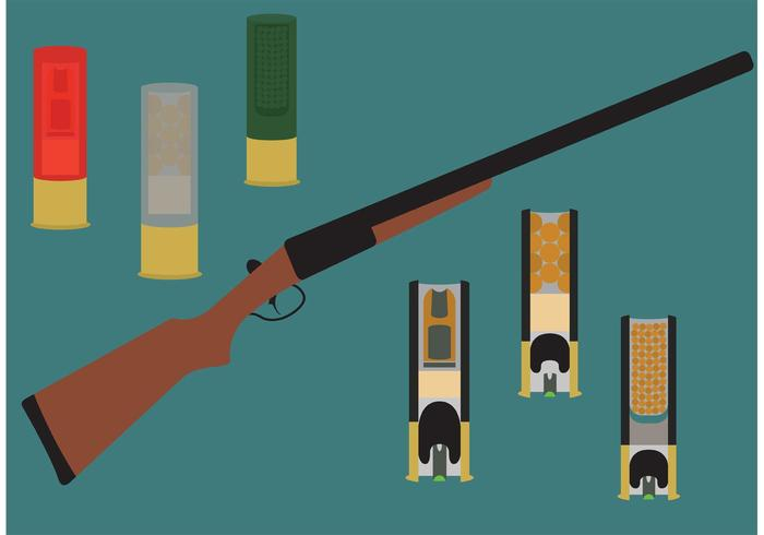 Vecteurs de coquilles de fusil vecteur