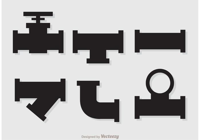 Vecteurs de pipeline d'égout Silhouette vecteur