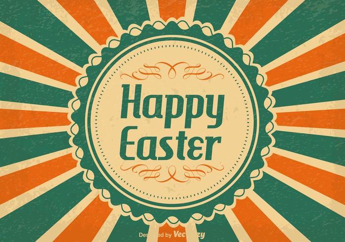 Illustration vintage heureuse de Pâques vecteur