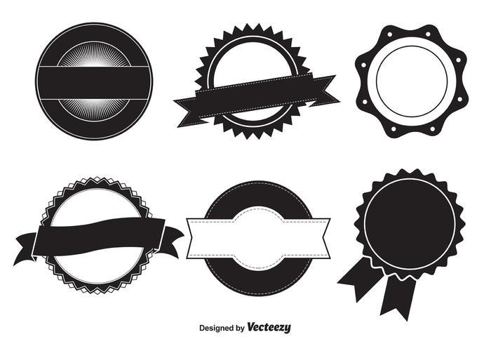 Modèles de badges vectoriels vecteur
