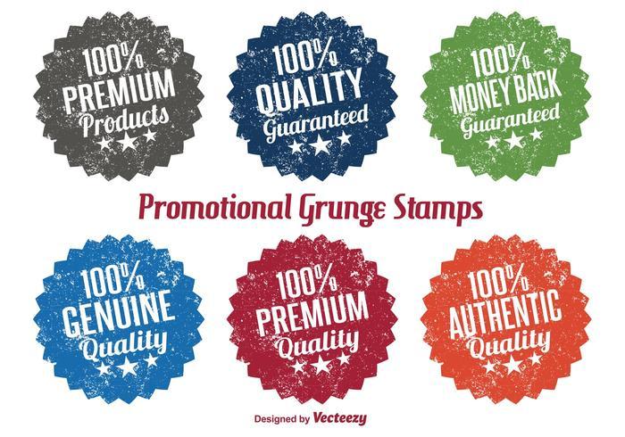 Vecteurs de timbre grunge promotionnels vecteur