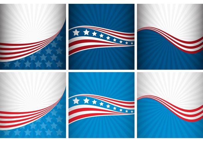Vecteurs d'arrière-plan des États-Unis vecteur
