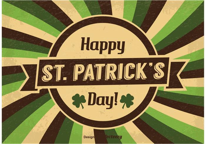 Illustration vintage de Saint Patrick vecteur