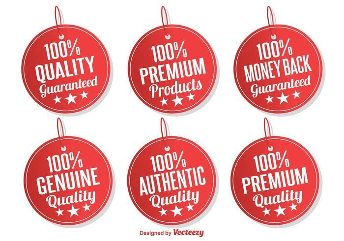 Tags promotionnels / étiquettes vecteur