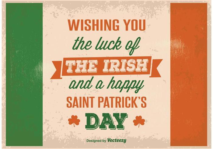 Affiche vintage de Saint Patrick's Day vecteur