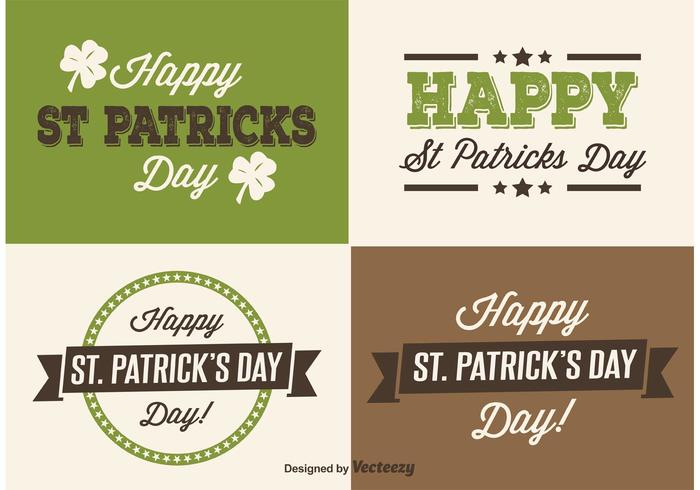 Étiquettes de Saint Patrick's Day vecteur