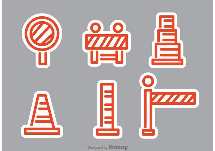 Vecteurs de trafic routier orange vecteur