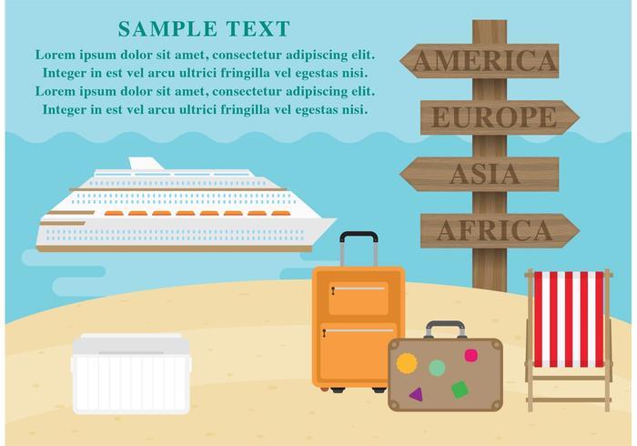 Destinations vectorielles Cruise Liner vecteur